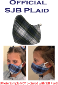 SJB PLAID FACE MASK