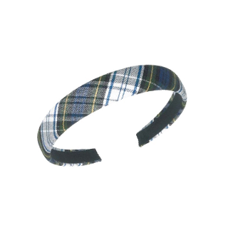 SJB PLAID WIDE PADDED HEADBAND
