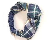 SJB PLAID TWISTED ELASTIC HEADBAND