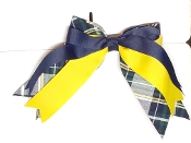 SJB PLAID TRIPLE LAYER RIBBON BOW